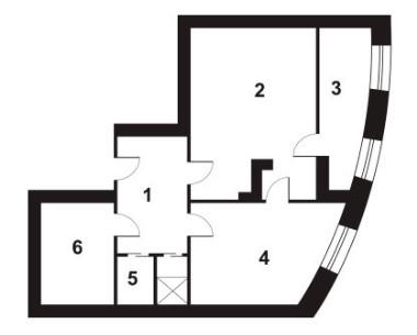 Планировка Однокомнатная квартира площадью 54.5 кв.м в ЖК «Новый Город»